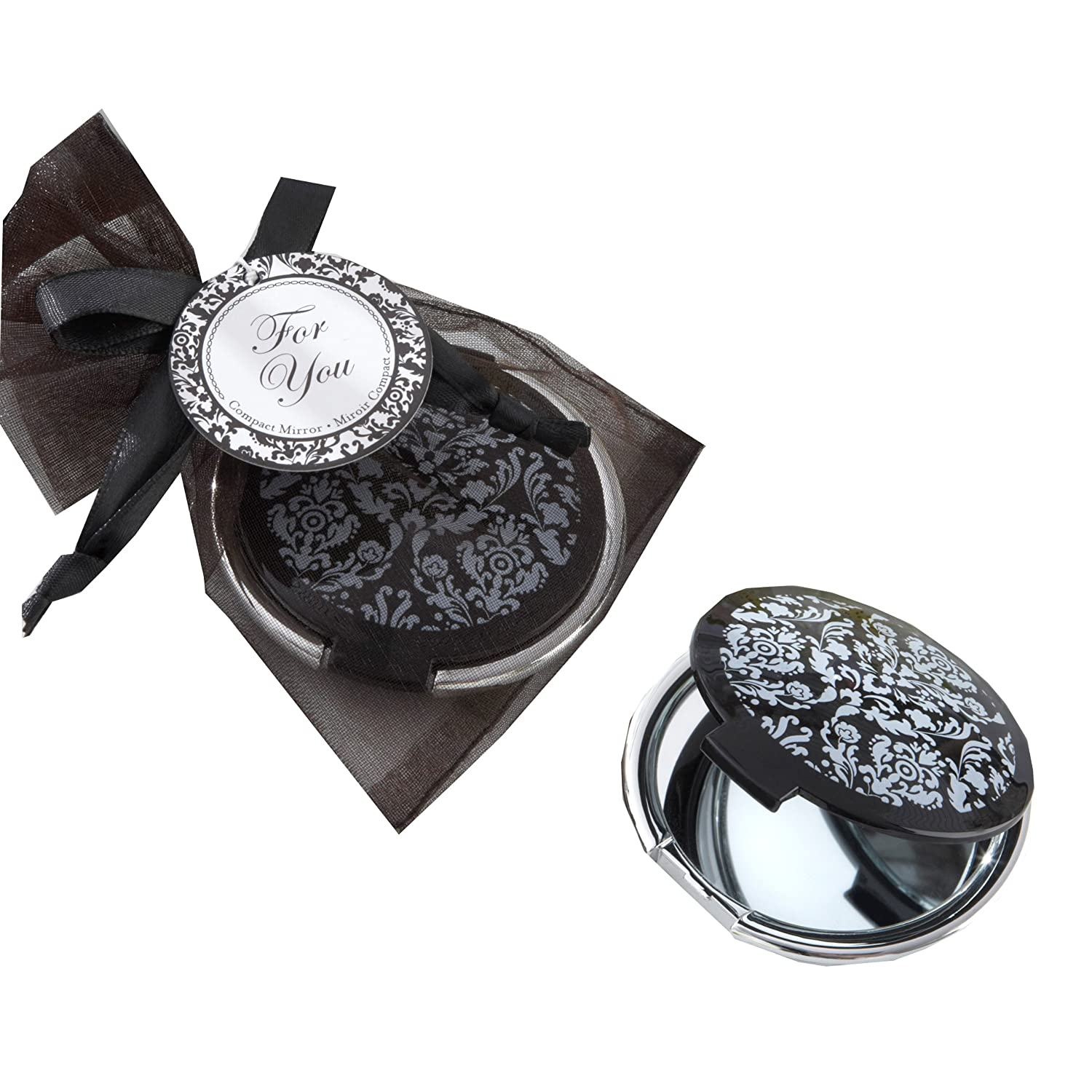 Amazon.com: Reflections Elegant Black-and-White Mirror Compact: Home ...