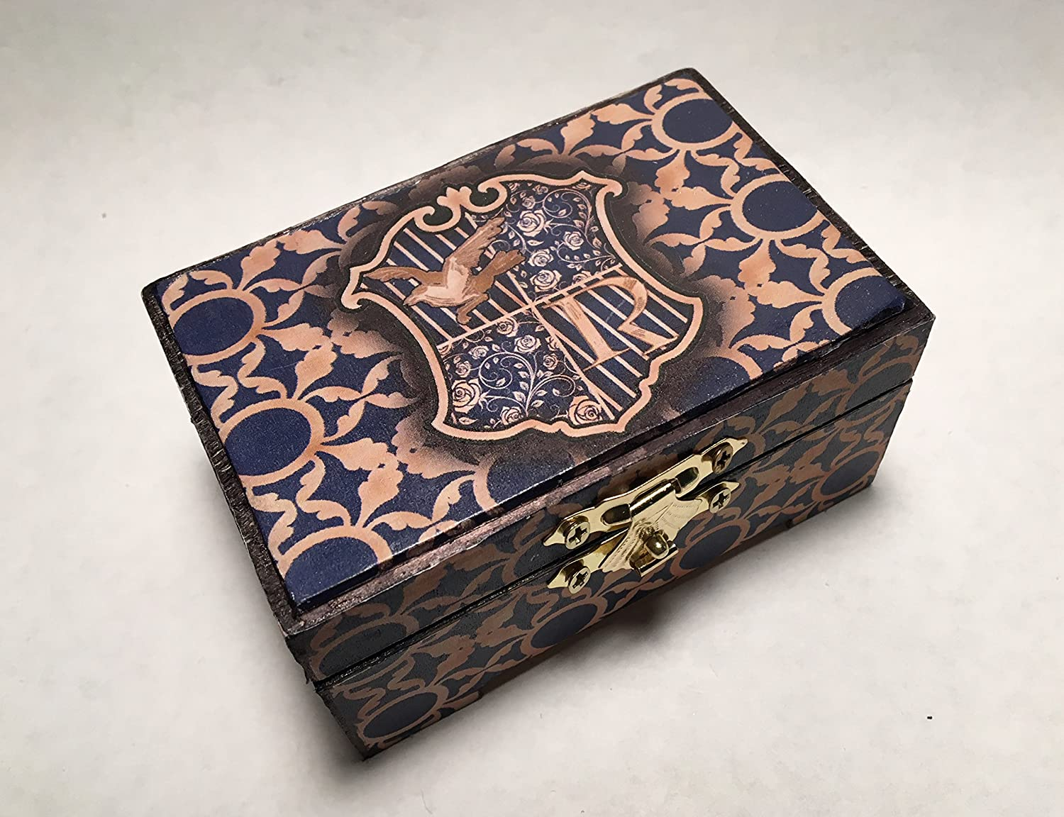 Harry Potter Ravenclaw Hogwarts Inspired Proposal Engagement Ring Box Ring Bearer Pillow Box Customizable
