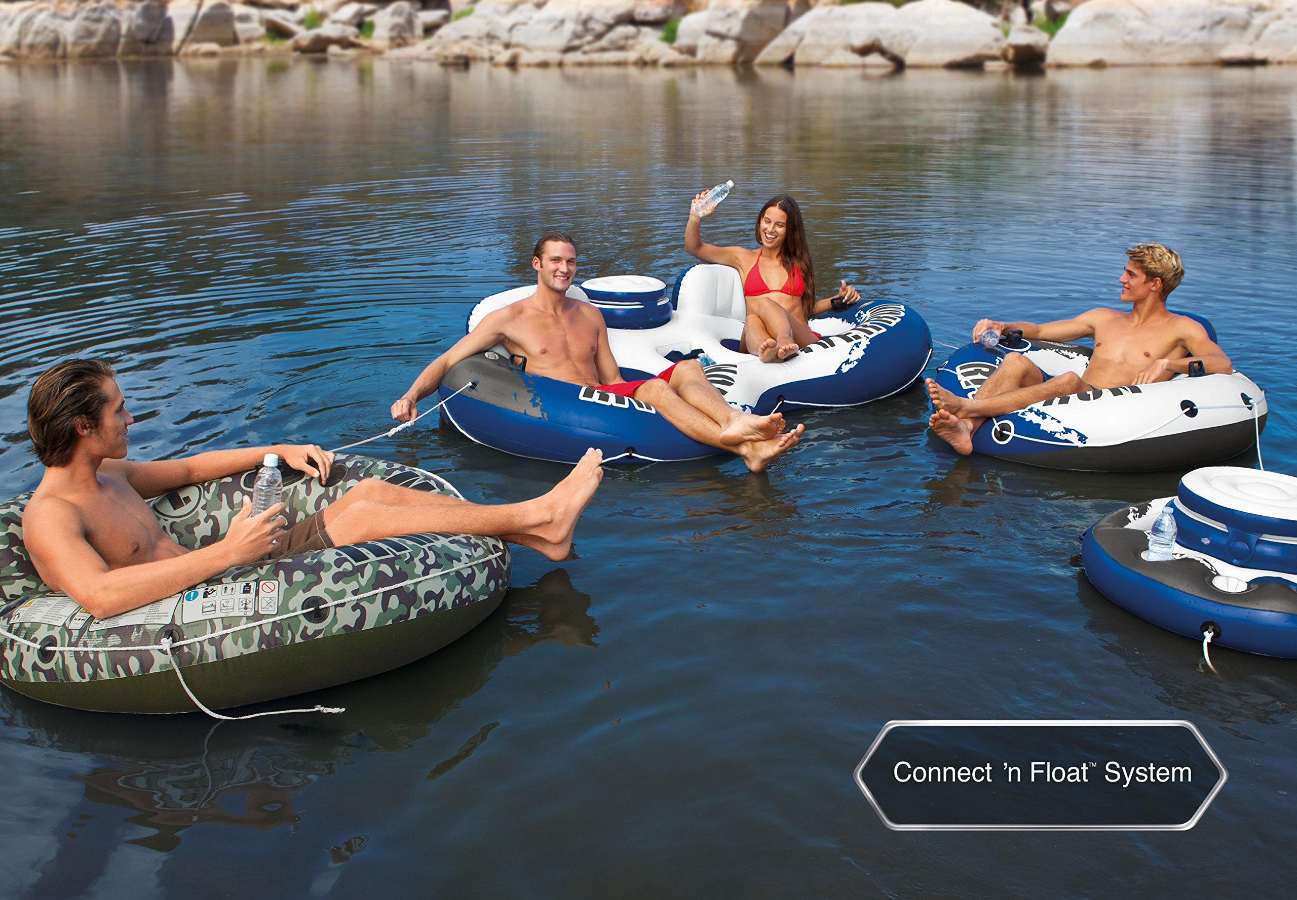 Intex River Run 1 Person Floating Tube (6 Pack) & River Run Lounge (4 Pack) by Intex (Image #10)