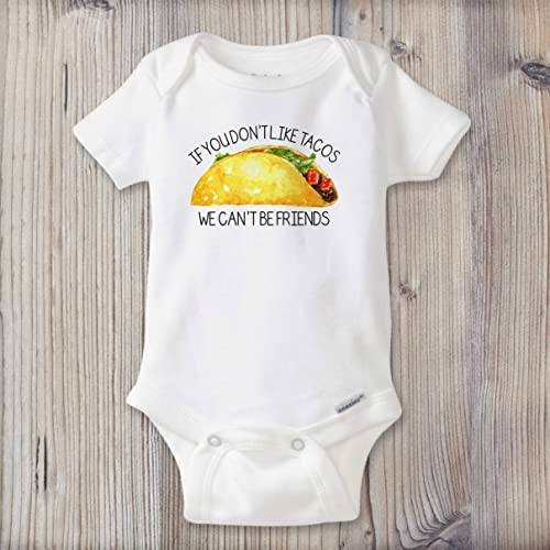 d305e1fa1 Image Unavailable. Image not available for. Color: Taco Baby Onesie ...