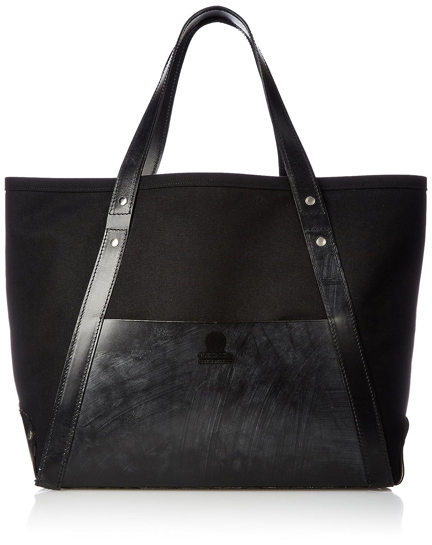 [グレンロイヤル] キャンバストートバッグL CANVAS TOTE BAG L 02-6240 B076RTLHW5BLACK x NEW BLACK