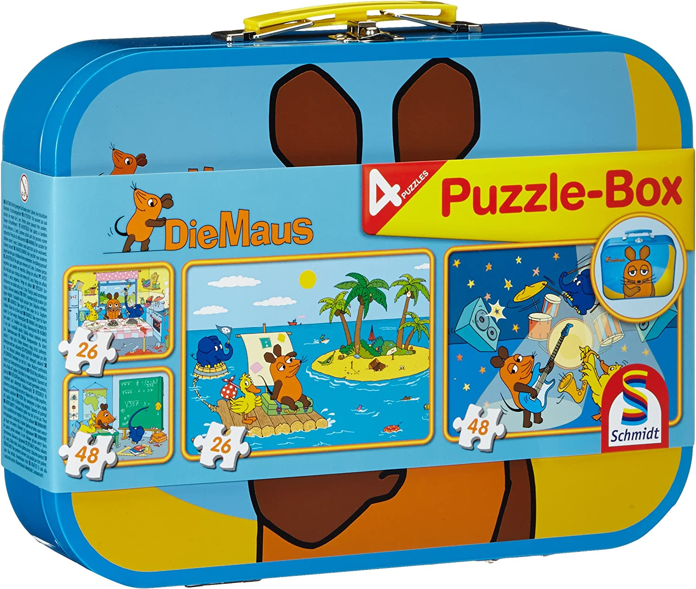 Schmidt Spiele Viel Spaß mit der Maus Kinderpuzzle 3x48 Teile Puzzle Puzzlespiel