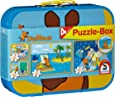 Schmidt Spiele 55597 - Puzzle Maus im Metallkoffer 2 x 26 Teile, 2 x 48 Teile