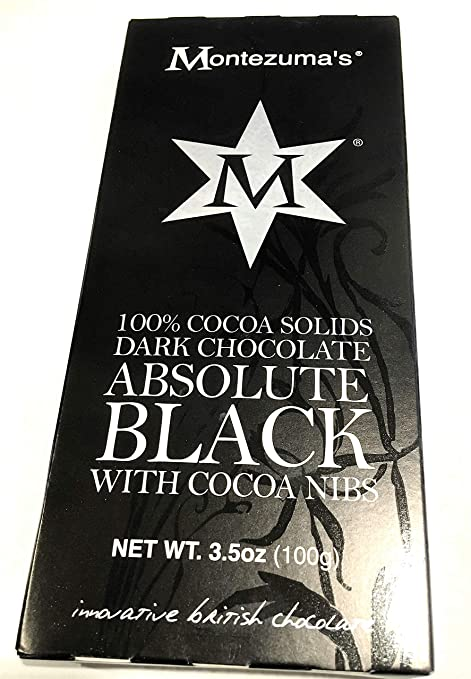 Montezuma's Absolute Black Dark Chocolate 100 percent Cocoa Solid