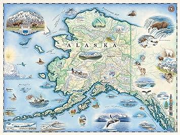 Amazon.de: Xplorer Maps Alaska Karte Wall Art Poster ...