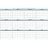 32'' x 48'' SwiftGlimpse 2017 / 2018 Academic Wall Calendar Jumbo Oversized Wet and Dry Erase Laminated 12 Month Planner, June - July, Large
