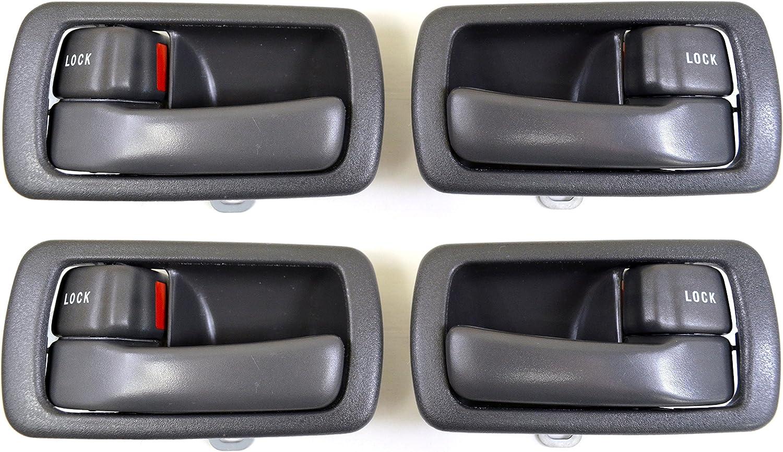 Gray PT Auto Warehouse TO-2532G-DS Left//Right Pair Inside Interior Inner Door Handle//Trim