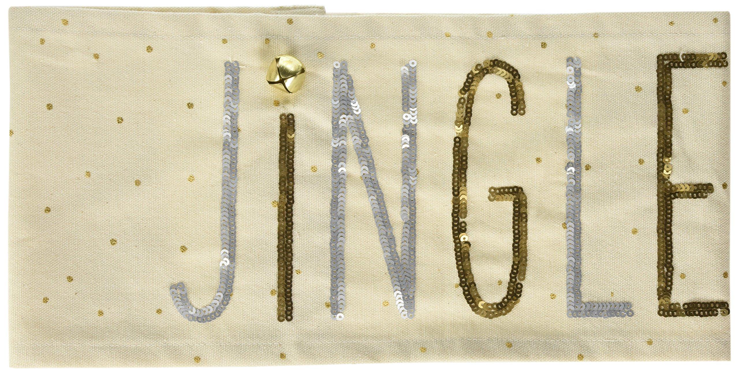 Mud Pie Jingle Sequin Pillow Wrap