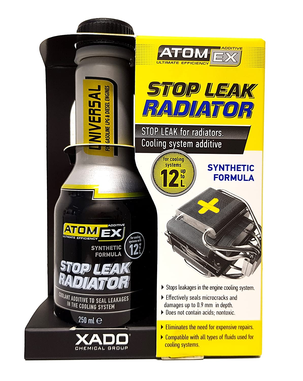 XADO ATOMEX Sigillante del sistema di raffreddamento, additivo per la rimozione dei punti di perdita sul radiatore dell'automobile additivo per la rimozione dei punti di perdita sul radiatore dell' automobile