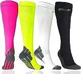 DANISH ENDURANCE (ダニッシュ エンデュランス) COMPRESSION SOCKS コンプレッションソックス 男女兼用着圧靴下、パフォーマンス向上、スポーツソックス、ランニング、シンスプリント、フライト、旅行、ヨーロッパ製