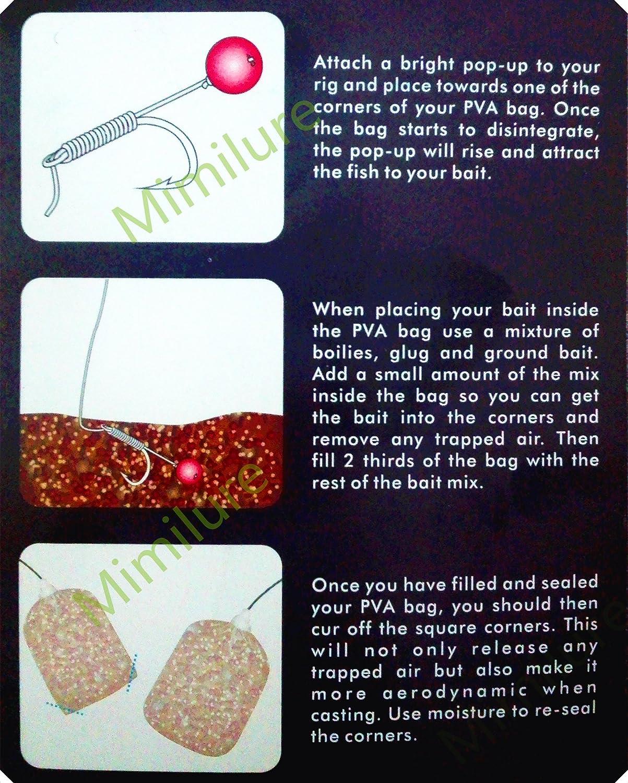 20Pcs//Bag Carp Fishing Bait PVA Dissolve Bag Water-Soluble Tackle 4 Sizes Pop