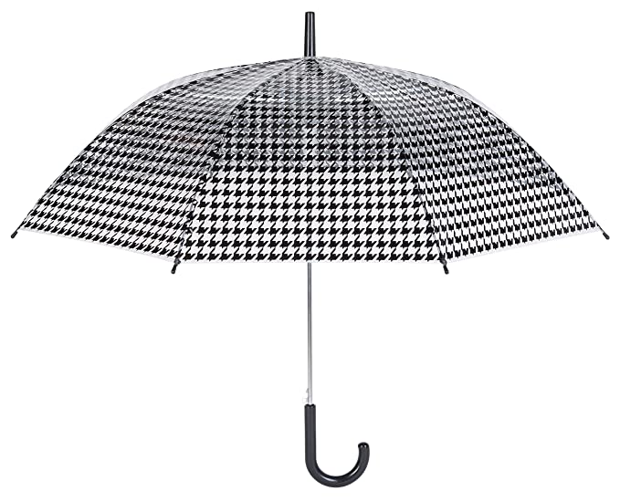 La chaise longue paraguas campana negro y transparente para las mujeres – Imprimã pie de gallina