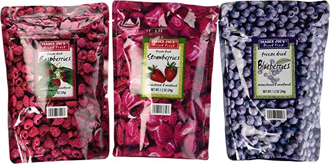 Trader Joes Freeze Dried Fruit Variety Pack (Blueberry ...