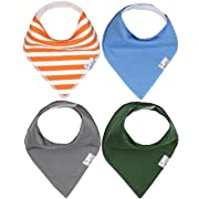 "Baby Bandana Drool Bibs for Drooling and Teething 4 Pack Gift Set For Boys ""Jackson Set"" by Copper Pearl"
