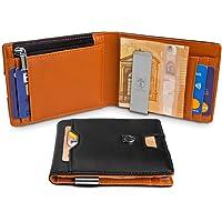 TRAVANDO ® Portefeuille Homme avec Pince à Billets London - 8 Rangements pour Cartes - Blocage RFID - Cadeau Parfait pour Hommes - Coffret Cadeau - Designed in Germany