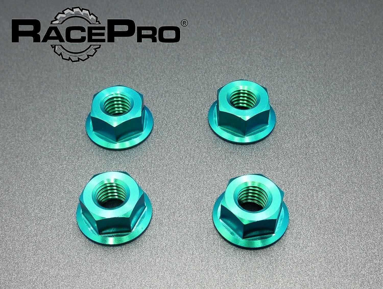 RacePro - 4x M12 x 1.5 Vert Norton Gr5 Bride De Titane Noix Fine Pignon.