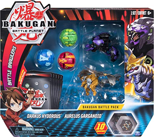 Bakugan Battle 5-Pack Darkus Hydorous & Aurelus Gargarnoid Collectible Cards & Figures