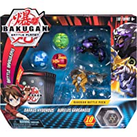 Bakugan, Battle Pack 5-Pack, Darkus Hydorous and Aurelus Gargarnoid, Collectible Cards and Transforming Creatures,Multicolor