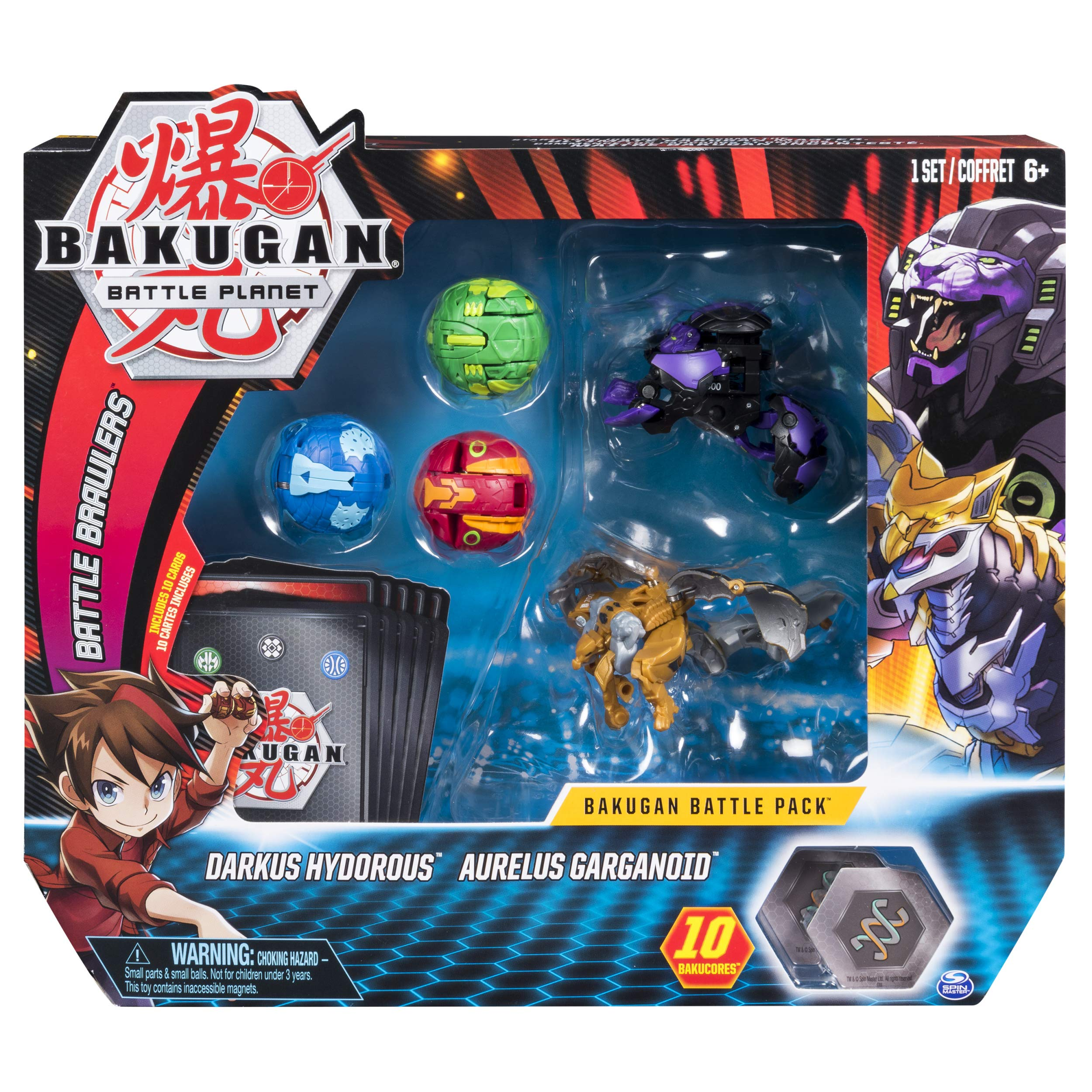 Bakugan Battle 5-Pack Darkus Hydorous & Aurelus Gargarnoid Collectible Cards & Figures by Bakugan