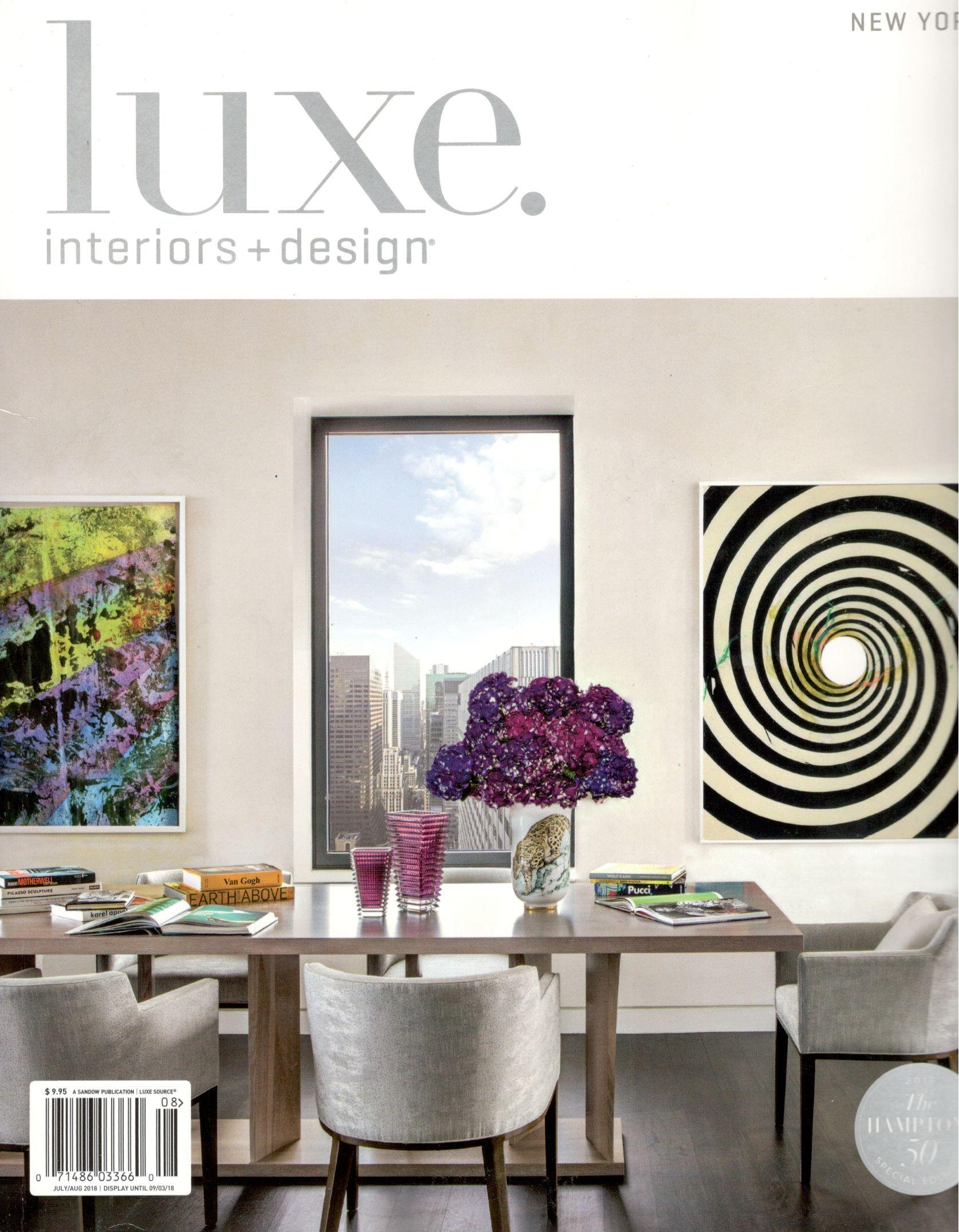 Luxe Interiors Design Magazine New York May June 2018 Amazon Com Books