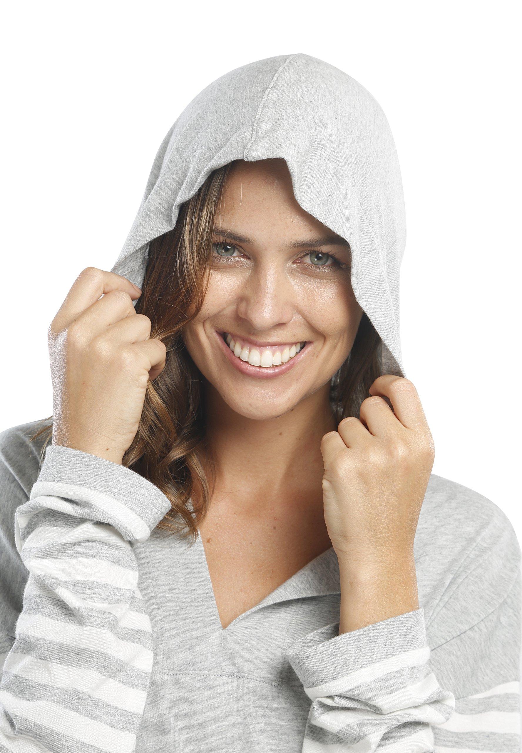 jijamas Incredibly Soft Pima Cotton Women's Pajama Set ''The Hoodie Set'' In Heather Grey by jijamas (Image #5)