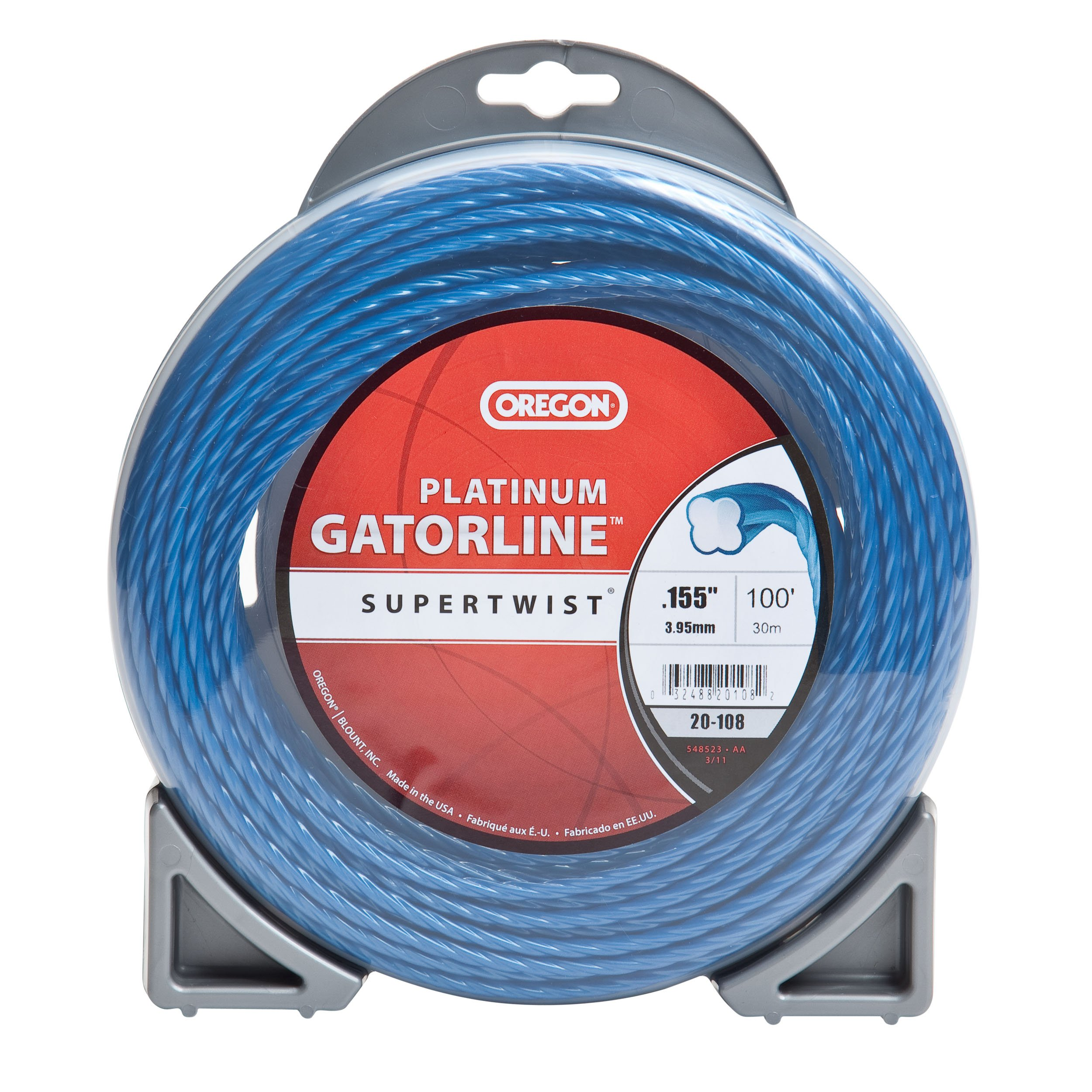 Oregon 20-108 Platinum Gatorline 1-Pound Donut String Trimmer Line 0.155-Inch Gauge by Oregon