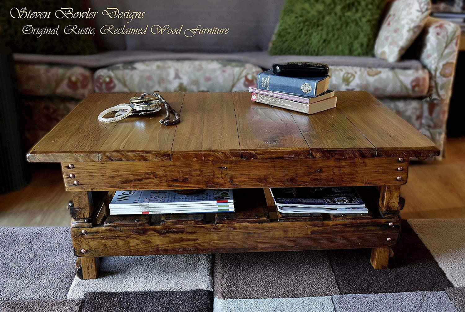 Bespoke Country Cottage Rustic Reclaimed Wood Coffee Table