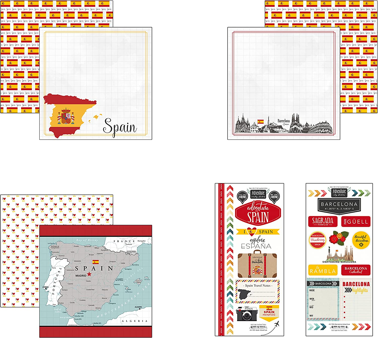 SCRAPBOOK CUSTOMS UTAH SIGHTSEEING PICTURES TRAVEL 12X12 SCRAPBOOK STICKERS