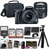 Canon EOS Rebel SL2 Digital SLR Camera w/ 18-55mm f/4-5.6 STM Lens + Canon DSLR Bag & 64GB (2x 32GB cards) + Flash + 3 pc. Filter Kit + DSLR Instructional Video + Accessory Bundle