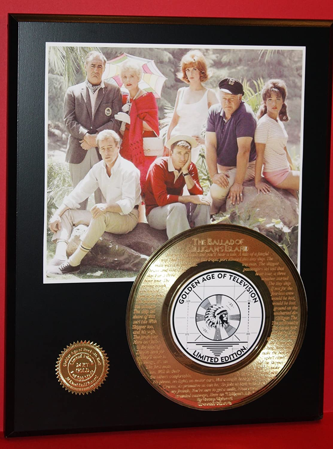 Gilligan'S Island Gold Record Rare Limited Edition Laser Etched W/Lyrics Gold Record Outlet