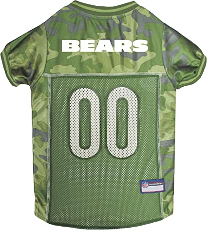 NFL Chicago Bears Camouflage Dog Jersey