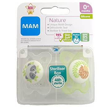Amazon.com: Mam Nature Soother Twin Pack 0.0 ft+ (Raccoon ...