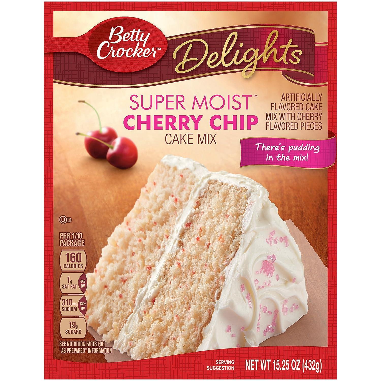 Betty Crocker Super Moist Cake Mix Cherry Chip, 15.25 Oz, Pack of 12