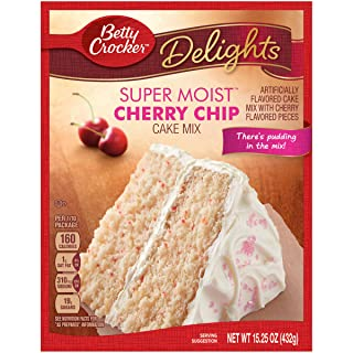 Betty Crocker Super Moist Cake Mix Cherry Chip, 15.25 Oz, Pack of 12