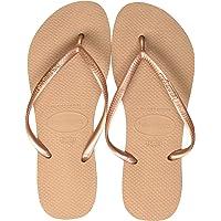 havaianas Slim Rose Gold Rubber Adult Flip Flops Sandals