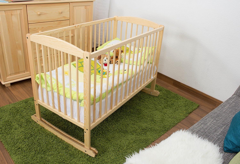 lit berceau de b b bois du pin massif naturel 104 incl sommier lattes dimensions 60 x. Black Bedroom Furniture Sets. Home Design Ideas