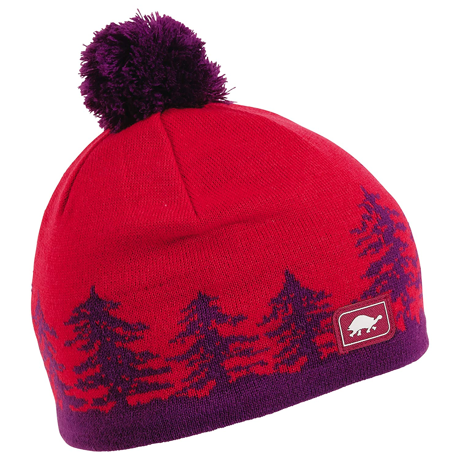 Amazon.com   Turtle Fur Treely Merino Wool Knit Pom Hat Plum   Sports    Outdoors dc687c1e86d