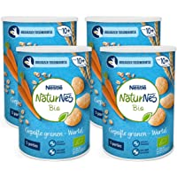 NaturNes Bio Nutripops Wortel - baby tussendoortje - vanaf 8 maanden - 4 stuks