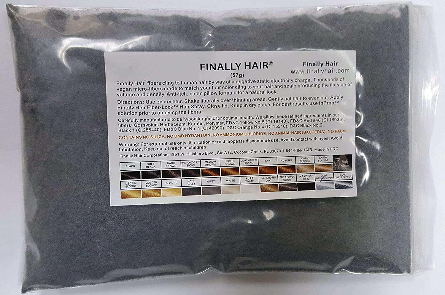 Hair Building Fibers Black Refill 50 Gram Refill - Refill Your Existing Fiber Bottle - Hair Filler Fibers - Cover Grey Roots Concealer by Finally Hair (50g 50gr 50gram 50 G Gr Gram Black) Finally Hair Corporation