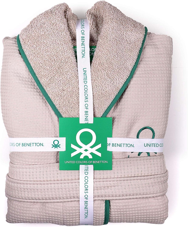 Accappatoio 360gsm 100/% Cotone CASA Benetton M//L Beige
