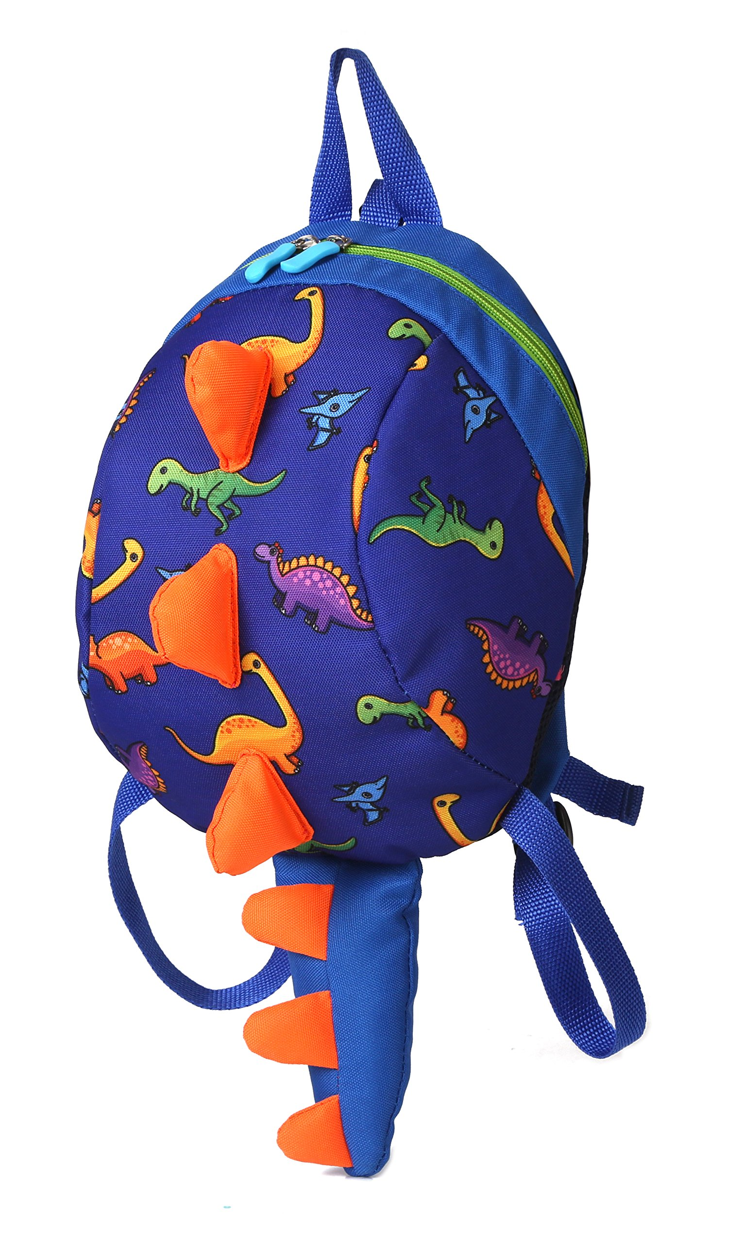Toddler kids Dinosaur Backpack Book Bags with Safety Leash for Boys Girls (1 Dark blue)
