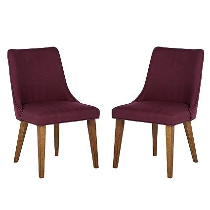 Strange Amazon Com Rivet Ian Modern Mid Century Wood Dining Spiritservingveterans Wood Chair Design Ideas Spiritservingveteransorg