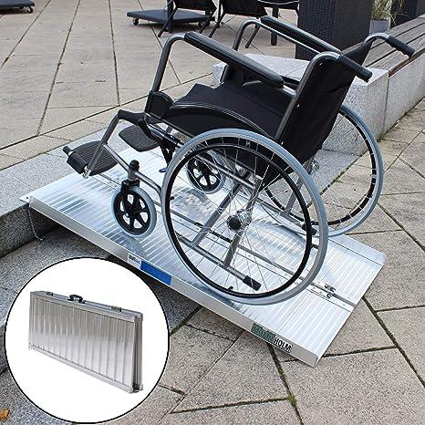 Rollstuhlrampe Verschiedene Größen 272 Kg Klappbar Alu Auffahrrampe Verladerampen Rampe 122cm Baumarkt