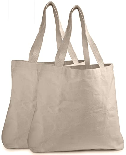 57b37358f51 Reusable Grocery Canvas Bag - Durable Stitching with Two Sturdy Shoulder  Straps to Handle Heavy Groceries