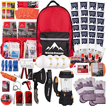 Rescue Guard First Aid Kit Hurricane Disaster or Earthquake Emergency  Survival Bug Out Bag Supplies for Families - up to 12 Day Multi Person 72  Hours