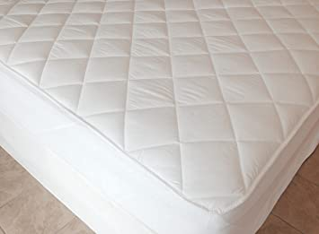 4 Doppel Hotel Qualität Weiß Tief Zum Aufspannen Anti Allergen Matratzen Schoner Möbel & Wohnen