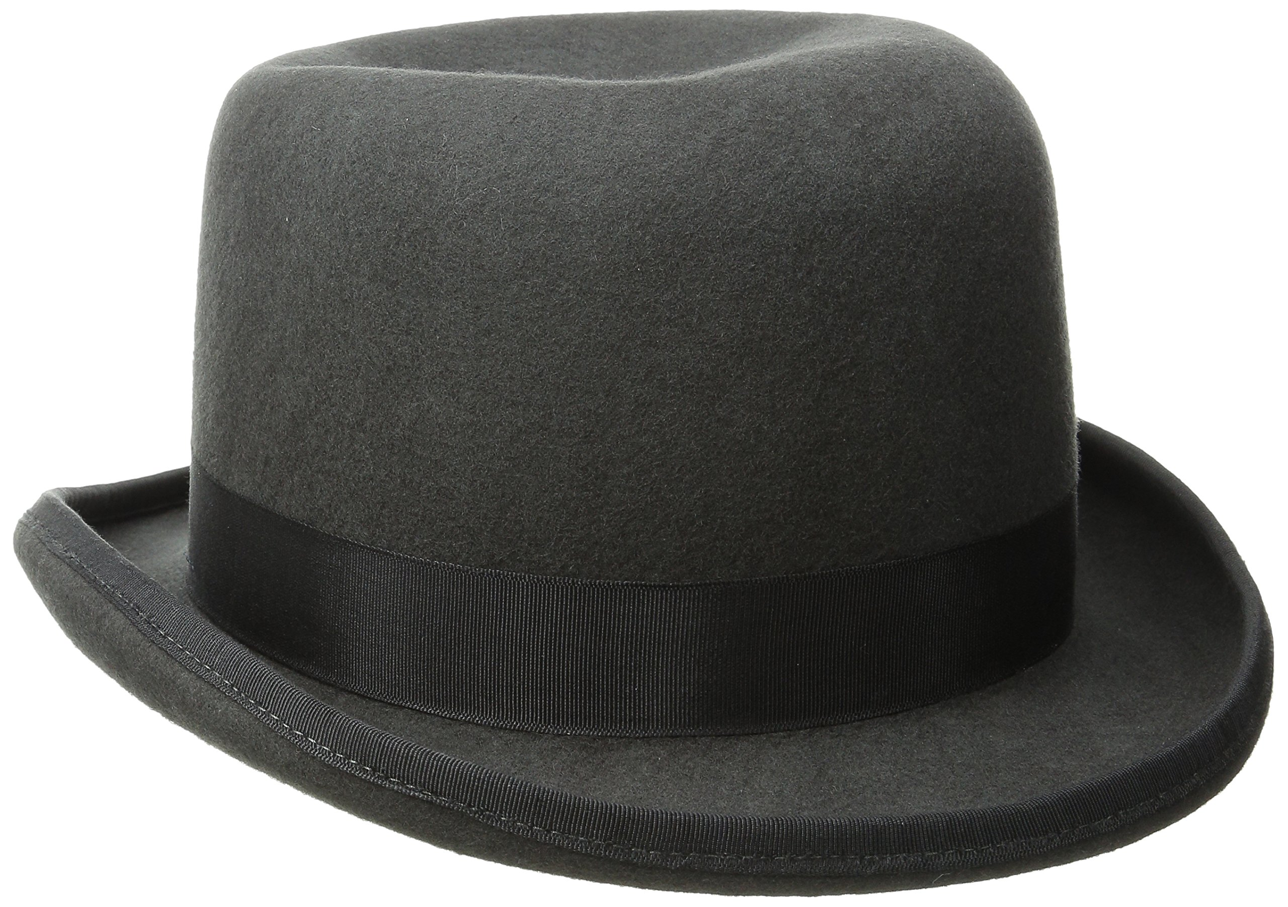 Scala Men's Wool Felt Derby Hat, Charcoal, Medium