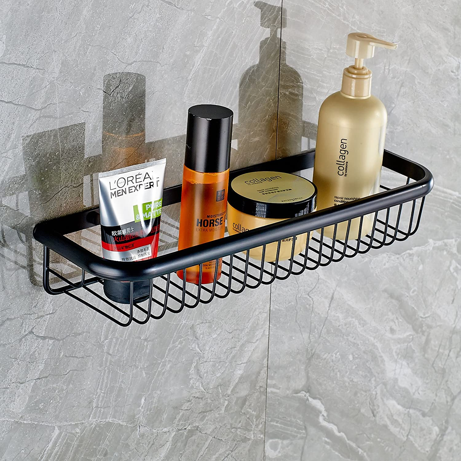 Rozin Wall Mounted Bathroom Cosmetic Storage Shelf Shower Caddy ...