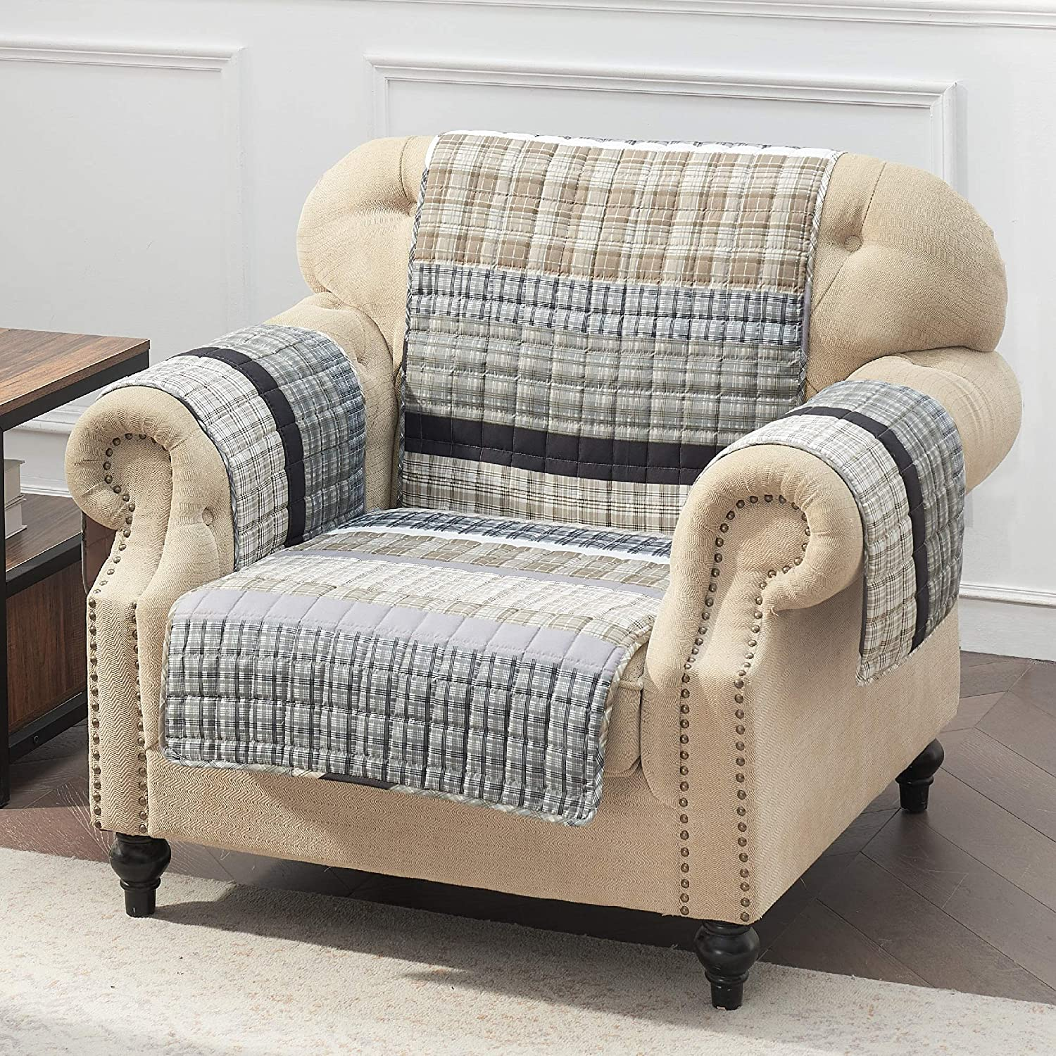 Barefoot Bungalow Gold Rush Slipcover, Arm Chair, Gray