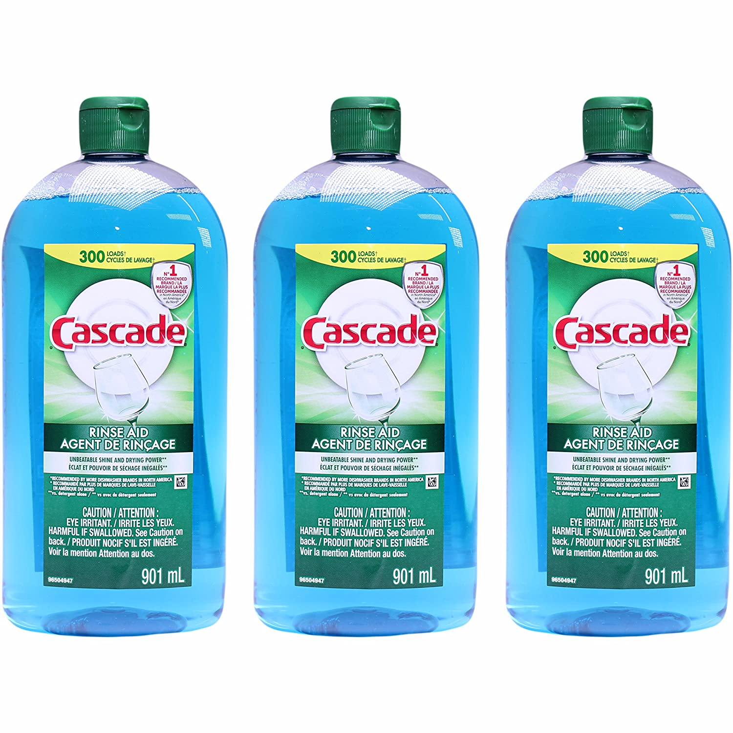 Cascade Rinse Aid, Dishwasher Rinse Agent, Original Scent 30.5 Ounce, (Pack of 3)